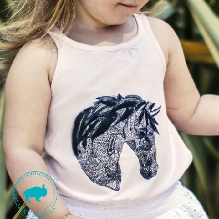 Transfert textile licorne - Super Bison