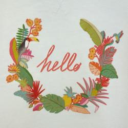 Transfert textile Hello - Super Bison