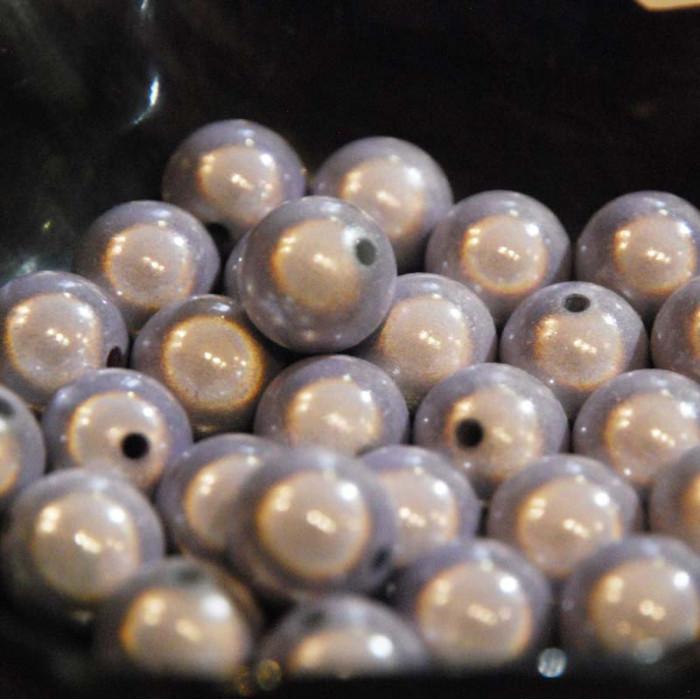 Perles magiques - parme - Atelier de la Création