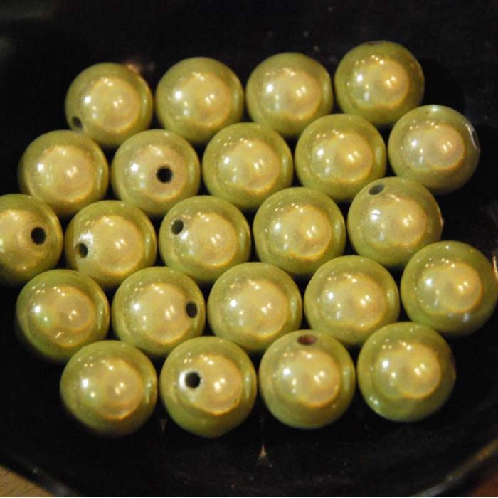 Perles magiques - vert anis - Atelier de la Création