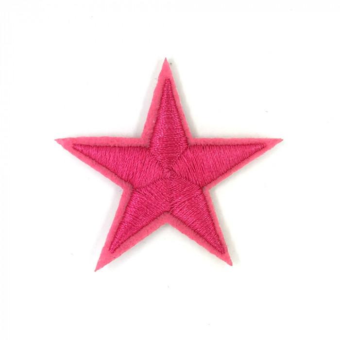estrella hierro rosa adhesivo de Parche fbvY7gyI6