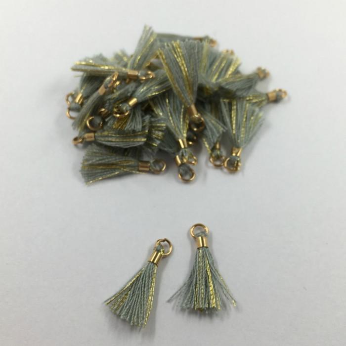 Mini pompon doré 17 mm x1