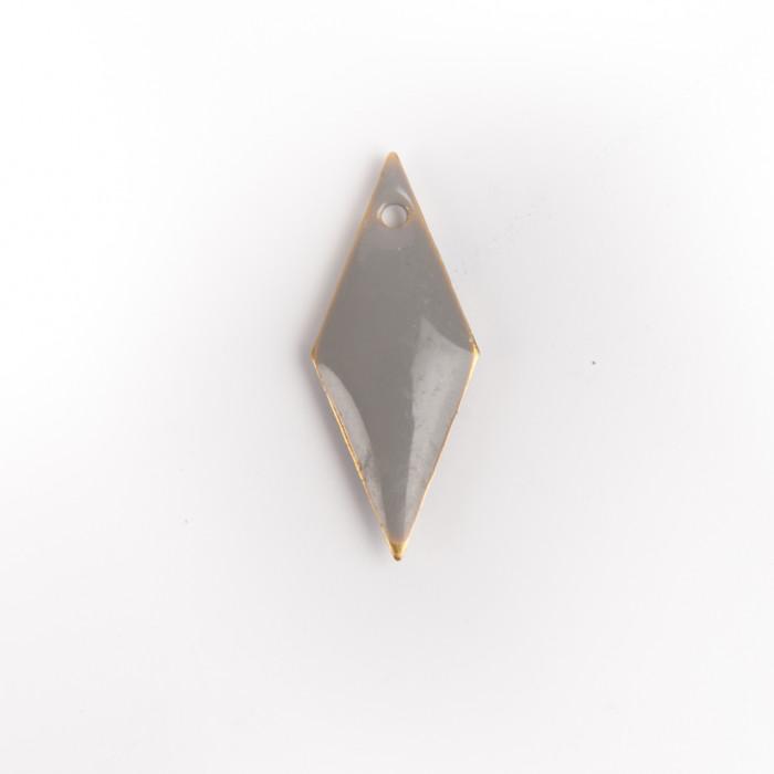 Sequin émaillé losange gris 19 mm x1