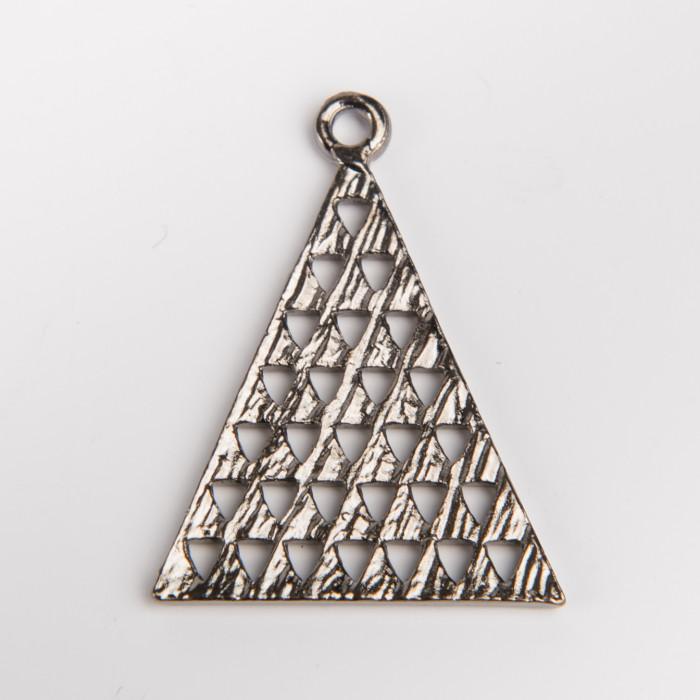 Pendentif métal triangle 28 mm x1