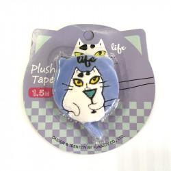Mètre ruban enrouleur doudou chat