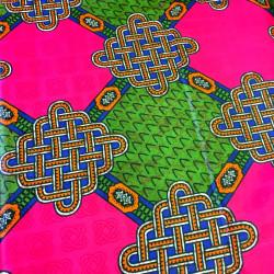 Tissu bazin motifs africains estampe