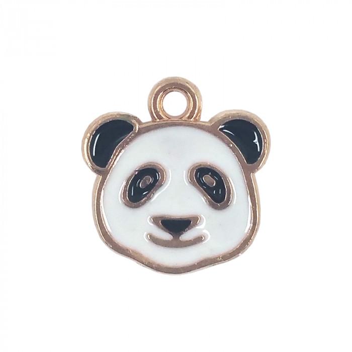 Breloque émaillée panda x1