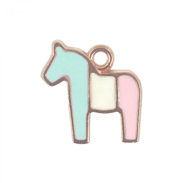 Breloque émaillée cheval
