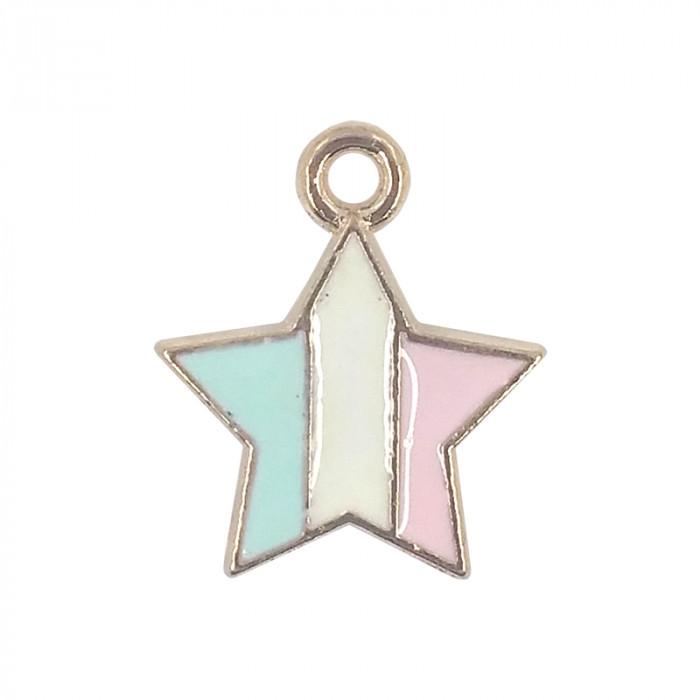 Breloque émaillée étoile 12 mm x1