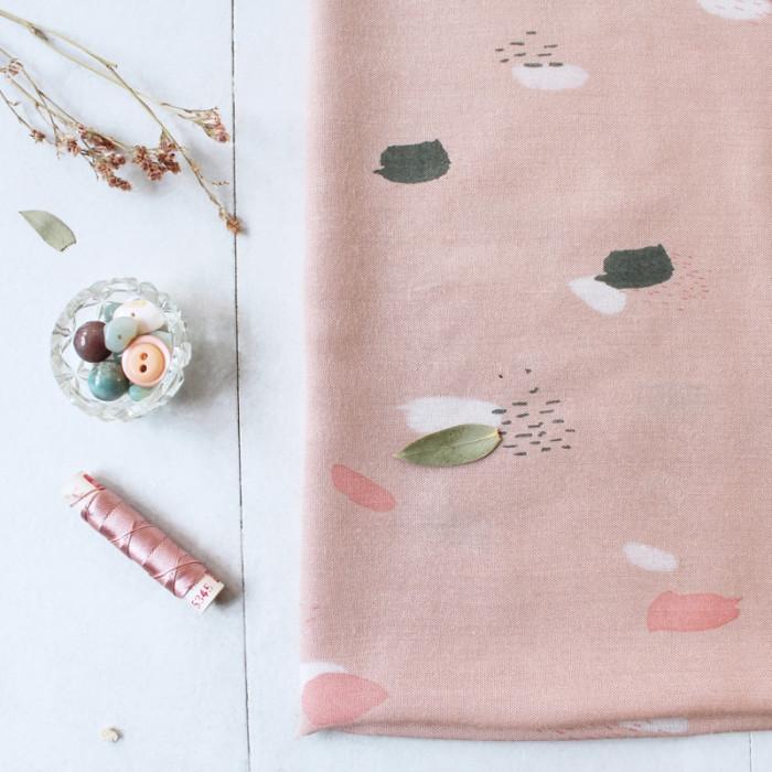 Tissu Moonstone pink - Atelier Brunette x 10 cm