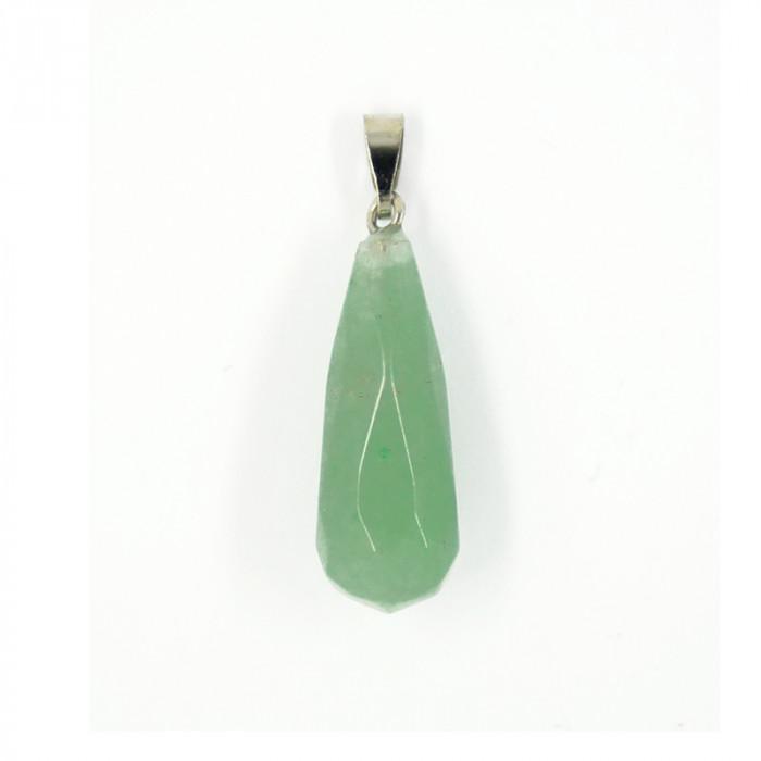 Pendentif goutte jade facettée 35 mm x1
