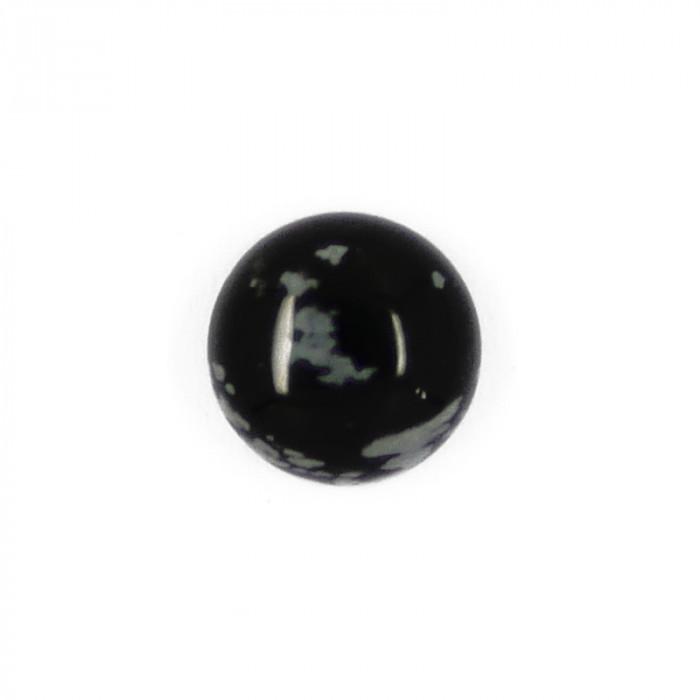 Cabochon obsidienne flocon de neige 10 mm x1