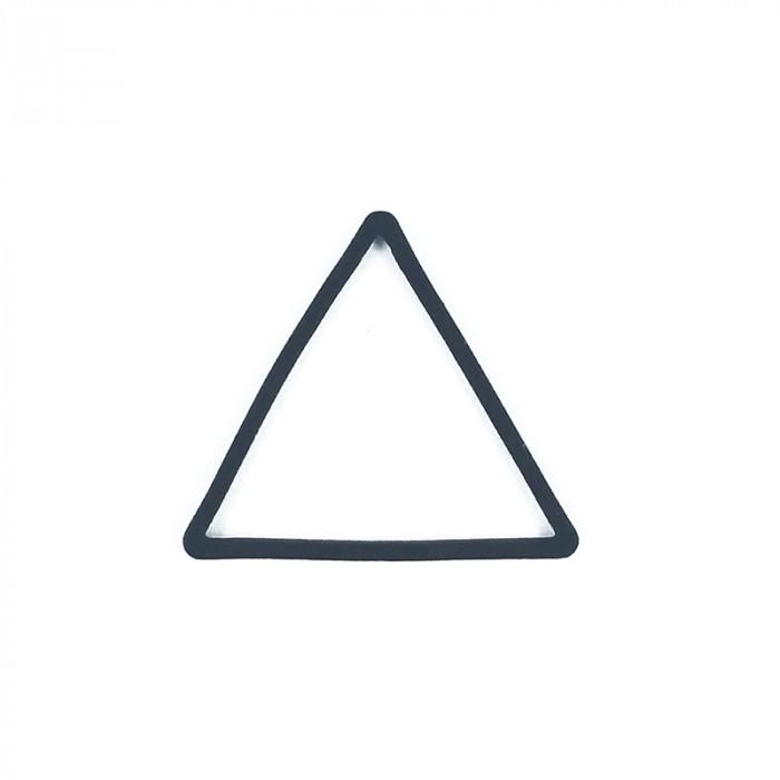 Intercalaire triangle métal teinté