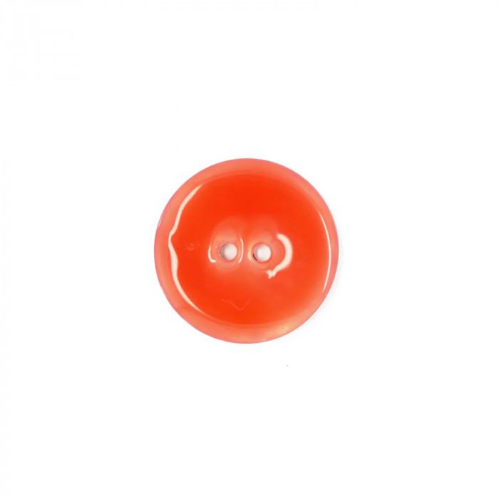 Bouton en nacre émaillée orange