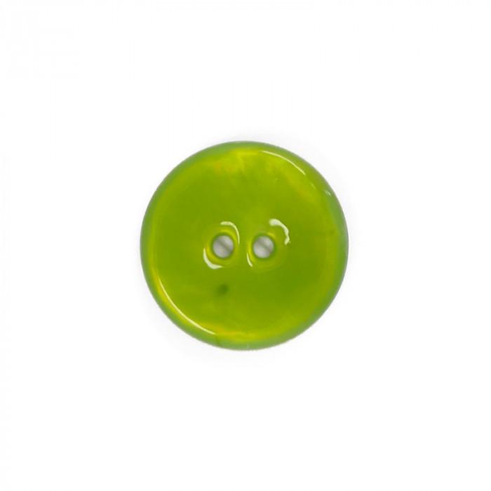 Bouton en nacre émaillée vert pomme