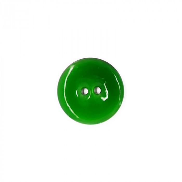 Bouton en nacre émaillée vert gazon