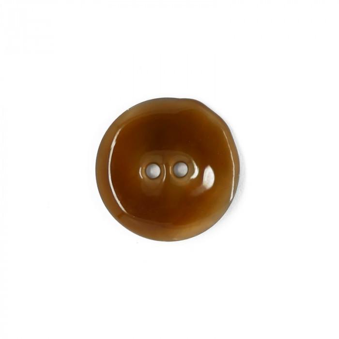 Bouton en nacre émaillée miel 23 mm