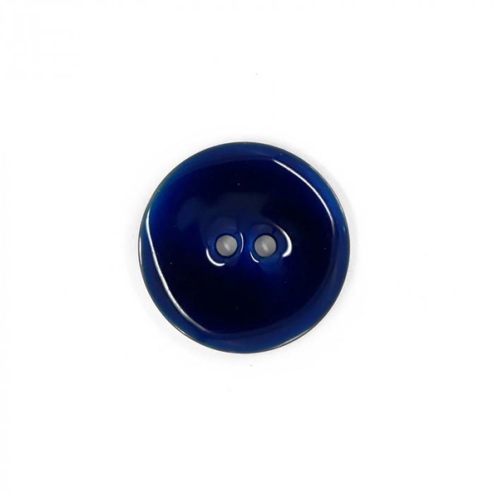 Bouton en nacre émaillée bleu 23 mm