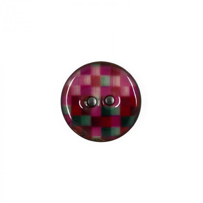 Bouton en coco émaillé 20 mm