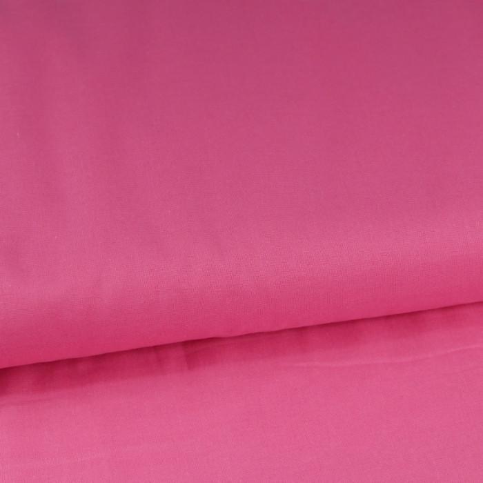Tissu coton uni - rose x 10 cm