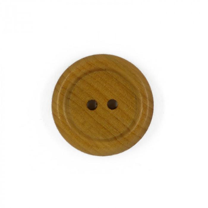 Bouton en bois avec rebord 23 mm