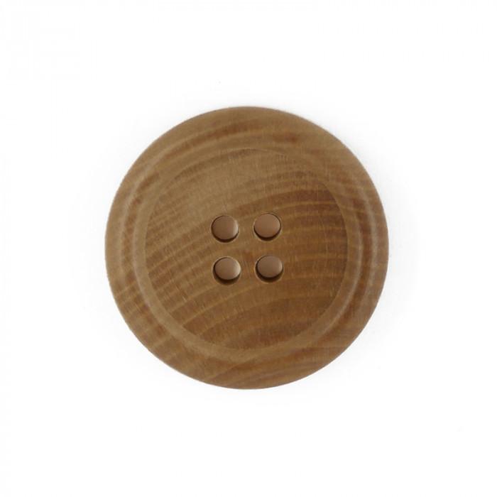 Bouton en bois avec rebord 31 mm