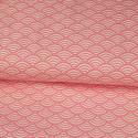 Tissu imprimé motif sushi rose