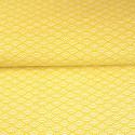 Tissu imprimé motif sushi jaune