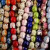 Perle céramique hibou 17 mm