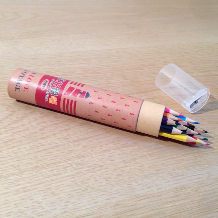 lot 12 crayons de couleurs - papeterie créative