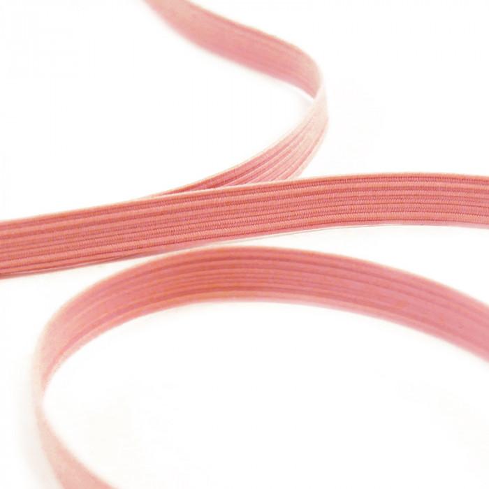 Élastique plat 9 mm rose x 10 cm