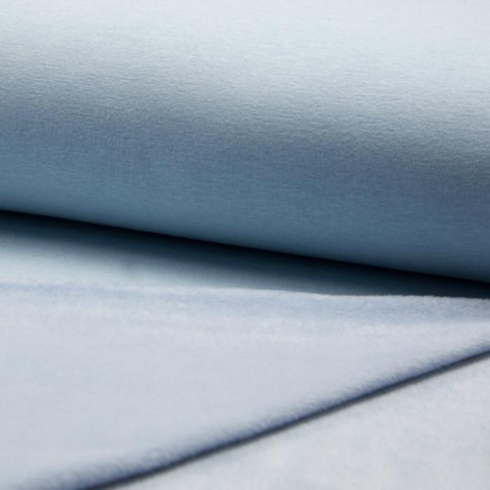 Tissu molleton bleu envers doudou