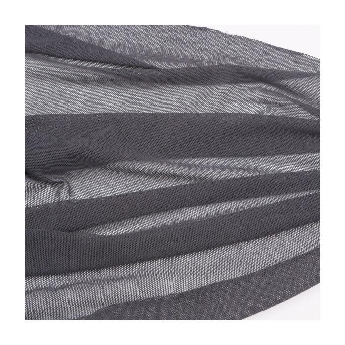 Tulle bio coton gris  - C. Pauli