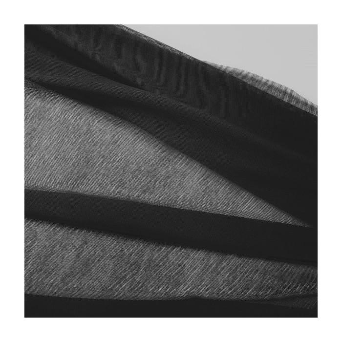 Coupon Tulle bio coton noir C. Pauli - 60 X 150 cm