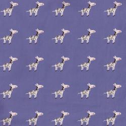 Popeline coton bio violet zèbres - C. Pauli