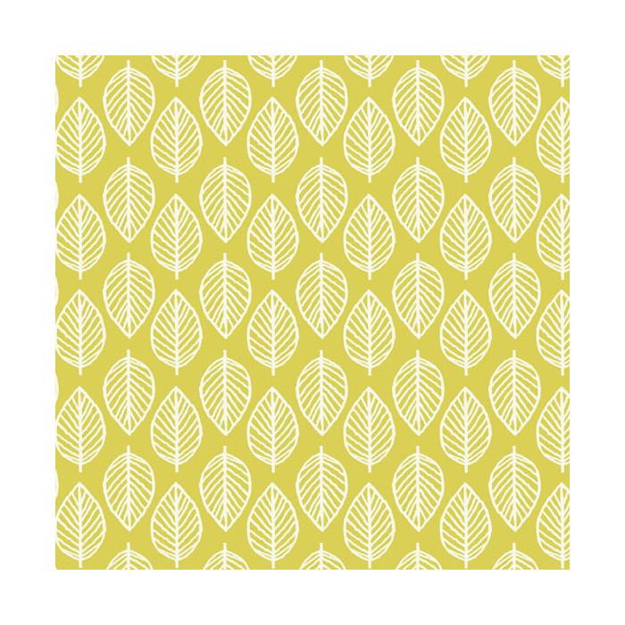 Tissu coton feuilles vertes x 10 cm
