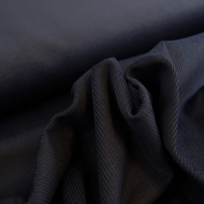Tissu velours côtelé bleu x 10 cm