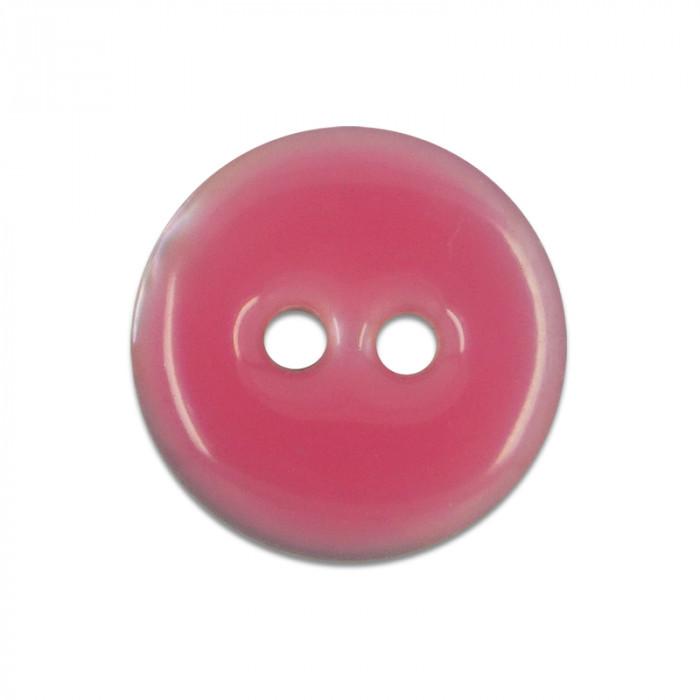 Bouton en nacre émaillée rose