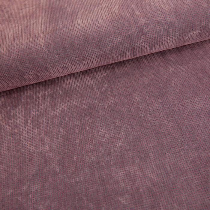 Tissu coton effet texturé velours parme x 10 cm