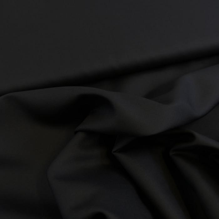 Tissu soie noir x 10 cm