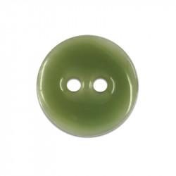 Bouton en nacre émaillée vert