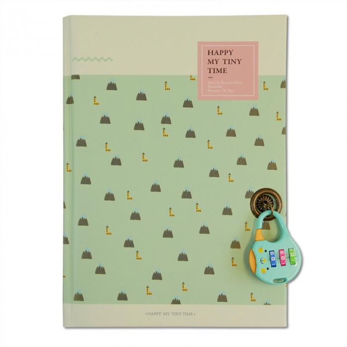 Carnet intime - bullet journal vert
