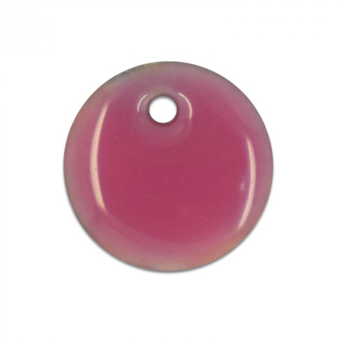 Sequin nacre émaillée 13 mm rose x1