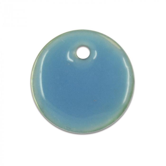 Sequin nacre émaillée 13 mm bleu x1