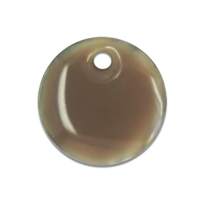 Sequin nacre émaillée 13 mm taupe