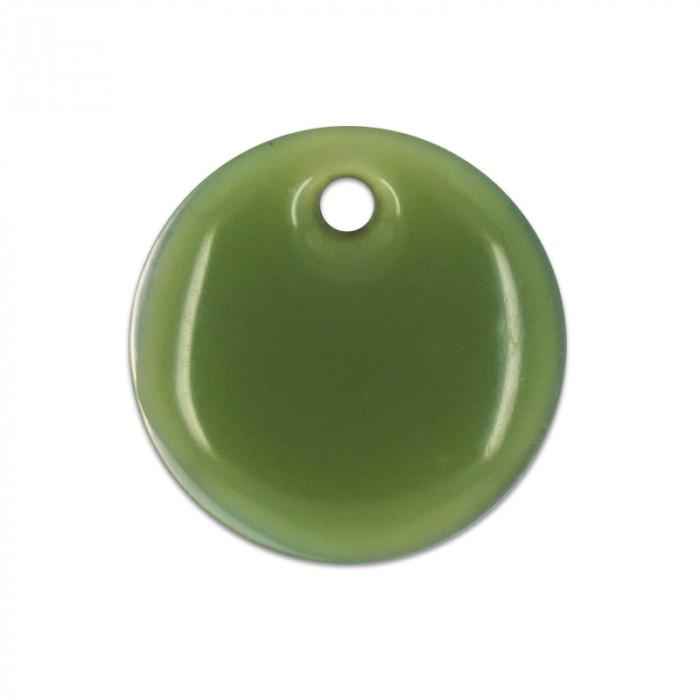 Sequin nacre émaillée 13 mm vert x1