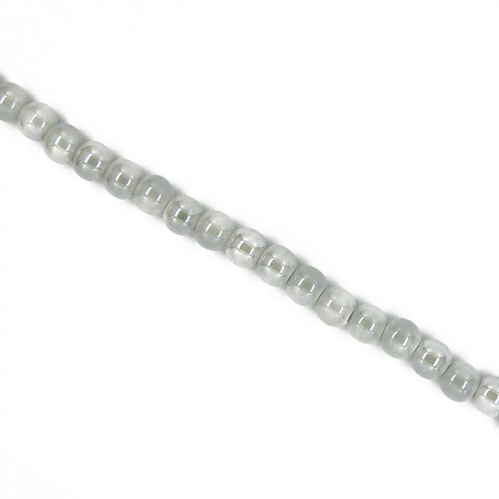 Perle en céramique unie gris clair
