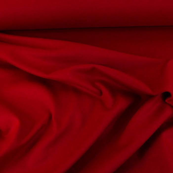 Tissu laine cachemire rouge
