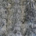 Fourrure synthétique gris ecru