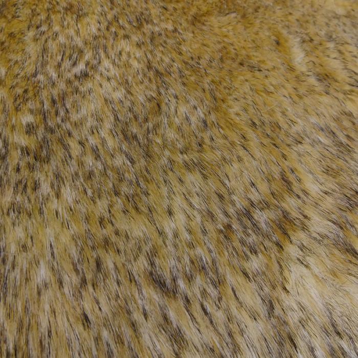 Fourrure synthétique jaune tigre